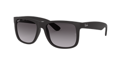 Picture of Ray-Ban sunglass Justin RB4165 601/8G (black rubber/gradient grey)