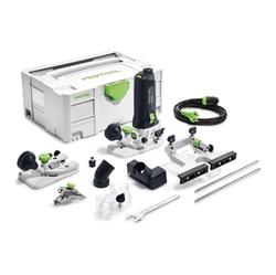 """תמונה של מכונת כרסום קצה Festool MFK 700 EQ-Set, 574364 720 W, 6-8 מ""""מ, עם קולט, שולחן נתב ומארז."""