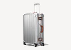 Изображение RIMOWA Original Check-In L Twist in silver & brown suitcase