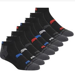 Изображение Puma 10-13 Men's Low Cut Socks Pack of 8 Black