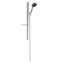 Picture of hansgrohe Rainfinity shower set 27671000 3jet, shower head 130mm, shower bar 90cm, chrome