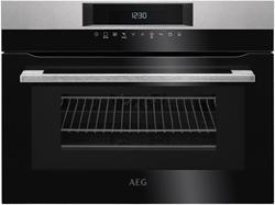 """תמונה של תנור משולב מיקרוגל בילט איין 45 ס""""מ קומפקטי  חברת AEG דגם KMK76100M"""