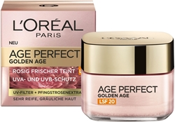 Picture of L'Oréal Paris Age Perfect Golden Age, Anti-Ageing Face Care, Firming and Shine, for Mature and Pale Skin, SPF 20, with Peony Extract, 50 ml